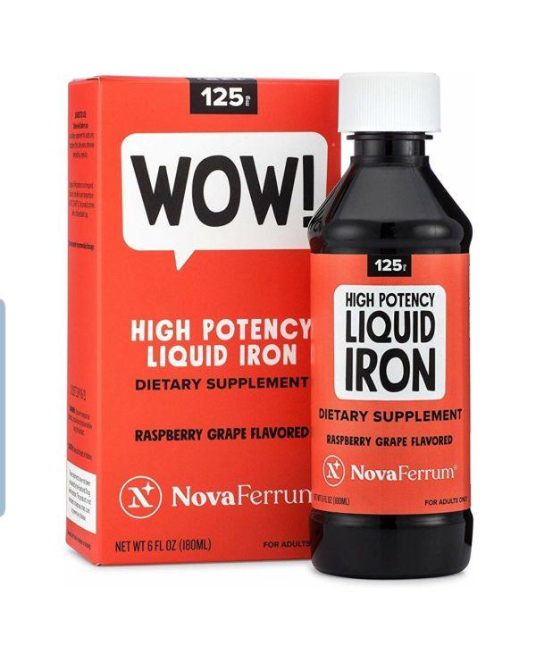 NovaFerrum 125 Likit Demir Takviyesi Ahududu ve Üzüm Aromalı