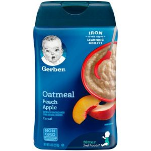 GERBER Oatmeal and Peach Apple Baby Cereal, 8 oz (227 gr.)
