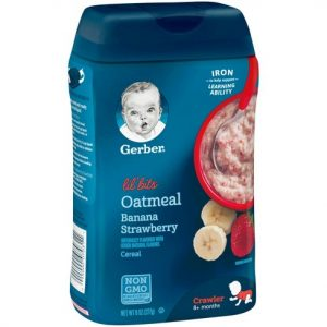 Gerber Lil' Bits Oatmeal Banana Strawberry Baby Cereal – 8oz(227 gr.)