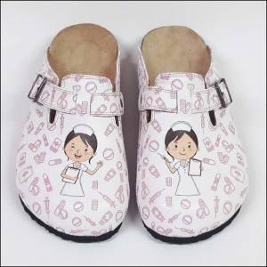 ShoeRokee Midwife Themed Women Clogs  Size 7-8-9-10