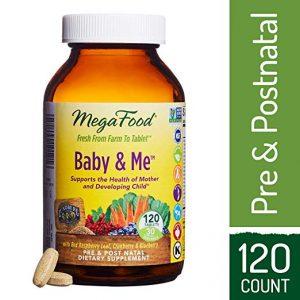 MegaFood – Baby & Me, Prenatal & Postnatal Support for Mother & Baby, 120 Tablets