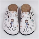 ShoeRokee Doctor Themed Women Clogs  Size 7-10