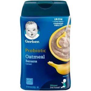 Gerber Probiotic Oatmeal & Banana Baby Cereal, 8 oz (227 gr.)