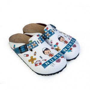 ShoeRokee Nurse Clogs Blue Size 6-8-9-10