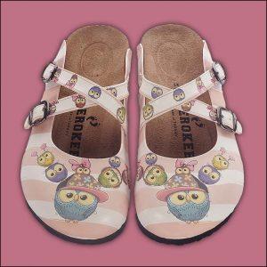 ShoeRokee Owls Themed Women Clogs  Size 7