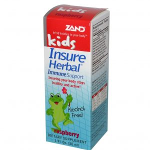Zand, Kids, Insure Herbal, Immune Support, Raspberry, 1 fl oz (30 ml) (2 years and up)
