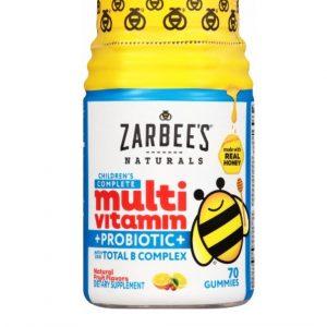 Zarbee's Children's Multivitamin + Probiotic Gummies – Fruit – 70ct (2 years and Up)