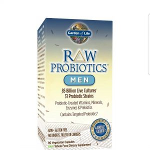 Garden of Life – RAW Probiotics Men – Acidophilus and Bifidobacteria Probiotic-Created Vitamins, Minerals, Enzymes and Prebiotics – Gluten and Soy-Free, Non-GMO – 90 Vegetarian Capsules
