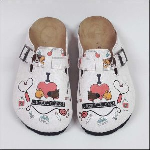 ShoeRokee I love Animal Women Clogs  Size 7-8