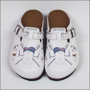 ShoeRokee Dentist Themed Women Clogs  Size 8-9-10