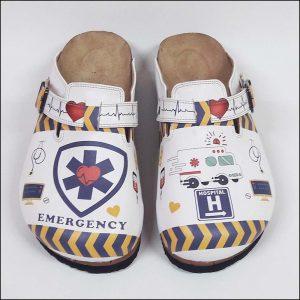 ShoeRokee Emergency Themed Women Clogs  Size 7-8-9