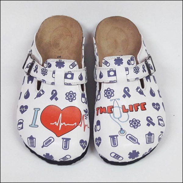 ShoeRokee I love Life Women Clogs  Size 7-8-9-10