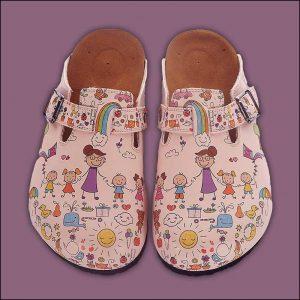 ShoeRokee Teacher Themed Women Clogs  Size 8