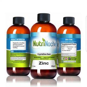 NutriNoche Liquid Zinc (çinko) – Best Zinc Supplement – Colloidal Minerals – 30 PPM 8 oz Bottle – Highly Absorbable Zinc Supplement