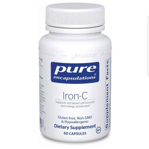 Pure Encapsulations – Iron-C – Hypoallergenic Supplement Supports Optimal Muscle Function* – 60 Capsules