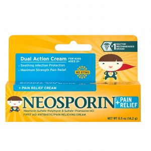 Neosporin Antibiotic and Pain Relieving Cream for Children – 0.5 oz