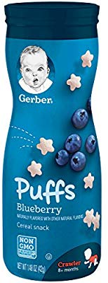 Gerber Graduates Puffs Cereal Snack, Blueberry