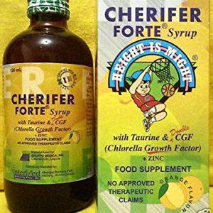 Cherifer Syrup w/ Taurine, CGF (Chlorella Growth Factor) and Zinc  (240 ml)
