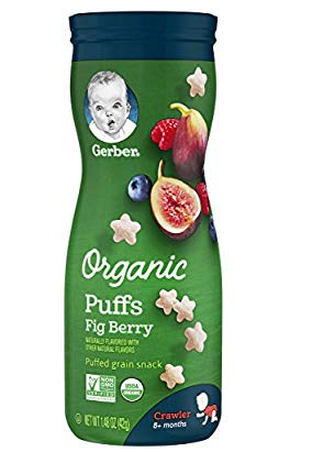 Gerber 1.48 oz. Organic Puffs Grain Snack in Fig Berry