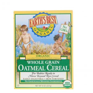 Earth's Best  Organic Whole Grain Oatmeal Cereal, 8 oz (227 gr)