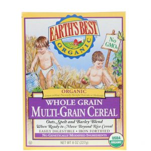 Earth's Best  Organic Whole Grain Multi-Grain Cereal, 8 oz (227 gr)