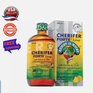 Cherifer Syrup w/ Taurine, CGF (Chlorella Growth Factor)  (240 ml)