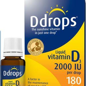 Ddrops 2000 IU Vitamin D3. 180 drops