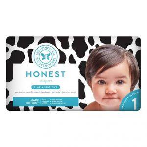 Honest Diaper (Klor içermeyen Organik Bebek Bezi) 1 numara (3.5-6 kilo arasi)