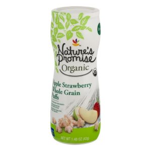 Nature's Promise Organic Whole Grain Puffs Apple Strawberry