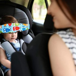 HULISEN 1Pcs Infants and Baby Head Support Band, Carseat Straps Covers, Slumber Sling, Toddler Car Seat Sleep Positioner (Blue) (1 adet)