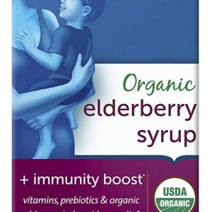 Mommy's Bliss Kids Organic Elderberry Syrup & Immunity Boost with Vitamins, Prebiotics & Echinacea, for Kids & Adults 1 Yr+