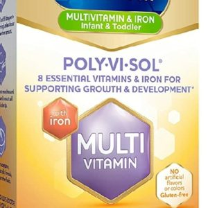 Enfamil Poly-Vi-Sol with Iron Multivitamin Supplement Drops for Infants and Toddlers, 50 mL dropper bottle