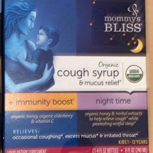 Mommy's Bliss Organic Cough and Mucus Syrup + Immune Boost (120ml+120 ml)