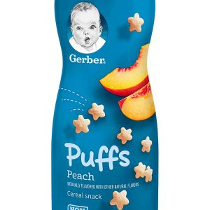 Gerber Puffs Cereal Snack, Peach, 1.48 Once (42 gr)