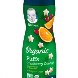 Gerber Organic Puffs, Cranberry Orange, 1.48 oz. (42 gr)