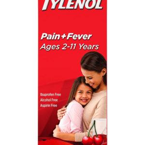 Children's Tylenol Oral Suspension Medicine with Acetaminophen, Cherry, 4 fl. oz (120 ml)