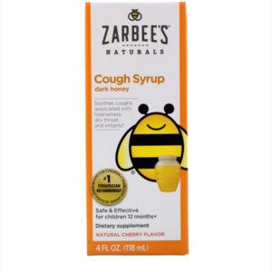 Children's Cough Syrup with Dark Honey, Natural Cherry Flavor, 4 fl oz (118 ml)