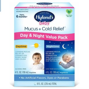 Baby Cold Medicine, Infant Cold and Cough Medicine, Decongestant, Hyland's Baby Mucus and Cold Relief, Day & Night Value Pack, 8 Fluid Ounce
