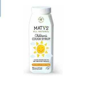 Maty's All Natural Children's Cough Syrup 6 fl oz Soothes Throats, Boosts Immunity 177 ml