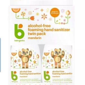 Babyganics Alcohol-Free Foaming Hand Sanitizer (el dezenfektanı) – 1.69 fl oz (50ml)/2paket (100 ml)