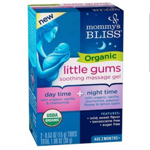Mommy's Bliss – Organic Little Gums Soothing Massage Gel – Day & Night Combo – 2 0.53 OZ Tubes