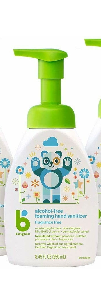 Babyganics Alcohol-Free Foaming Hand Sanitizer (El dezenfektanı) Fragrance Free – 8.45oz (250 ml)Pump Bottle
