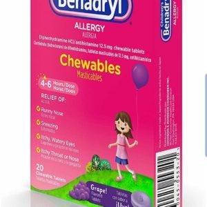 Children's BENADRYL®Chewables 2 boxes