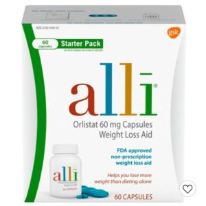 Alli Orlistat 60mg Weight Loss Aid Starter Kit Capsules – 60ct+120 capsules refill