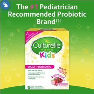Culturelle Kids Chewables Probiotic, 60 Tablets