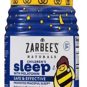 Zarbee's NaturalsChildren's Sleep with Melatonin Supplement, Natural Berry Flavored, 50 Gummies