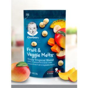 Gerber Fruit and Veggie Melts, Very Berry Blend, 1 Ounce