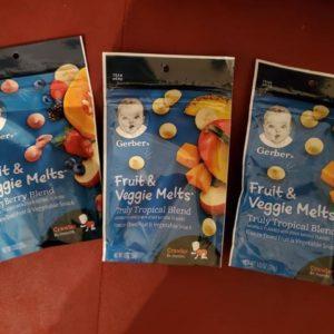 Gerber Fruit and Veggie Melts, Very Berry Blend, (3 adet)