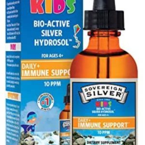 Sovereign Silver Bio-Active Silver Hydrosol for Immune Support – 10 ppm, 2 oz (59 mL) – Dropper