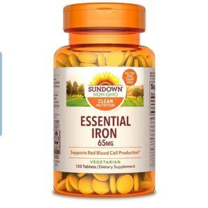 Sundown Iron Ferrous Sulfate 65 mg, 120 Count